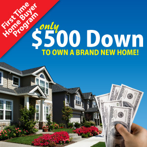 500 down program charlotte nc real estate for First time home buyers plan