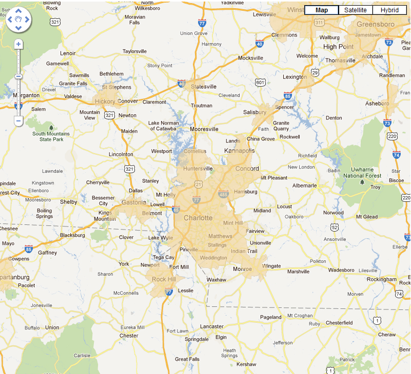 USDA Eligible Areas Greater Charlotte Region Charlotte NC Real Estate - Rural development loan eligibility map